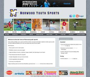 Sports Website Homepage